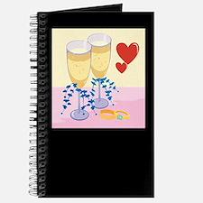 Wine & Wedding Rings Journal