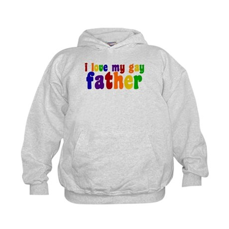 I Love My Gay Father Kids Hoodie