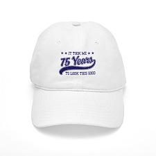 Funny 75th Birthday Baseball Cap