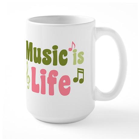 Music is Life Large Mug