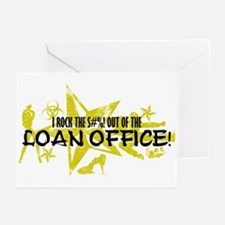 I ROCK THE S#%! - LOAN OFFICE Greeting Cards (Pk o