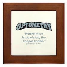 Optometry / Perish Framed Tile