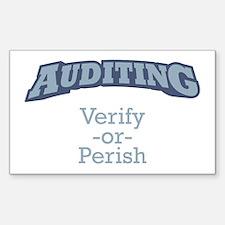 Auditing / Verify Sticker (Rectangle)