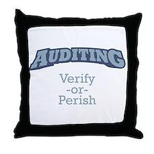 Auditing / Verify Throw Pillow