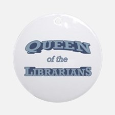 Queen Librarian Ornament (Round)