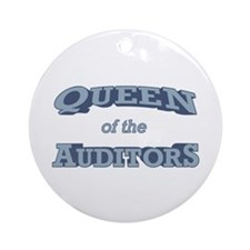 Queen Auditor Ornament (Round)