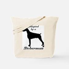 ADOPTED by Doberman Tote Bag