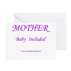 Mother - Baby Included Greeting Cards (Pk of 20)