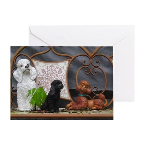 Retro Poodle Photo Gift Greeting Card