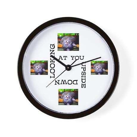 Looking At You Upside Down Wall Clock