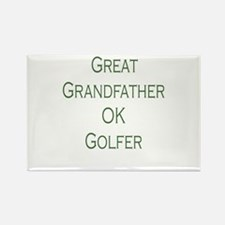 Great Grandfather Ok Golfer Rectangle Magnet