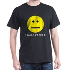 I Hate People Black T-Shirt