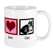 Peace Love Cats Mug