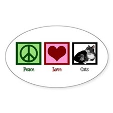 Peace Love Cats Decal