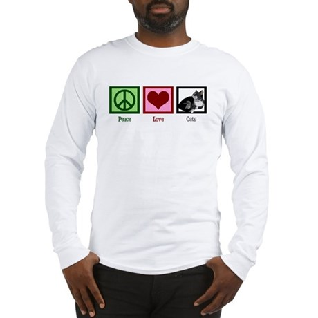 Peace Love Cats Long Sleeve T-Shirt