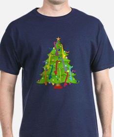 Bass Clarinet Christmas Tree T-Shirt