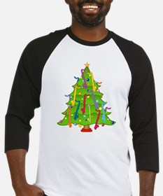 Bass Clarinet Christmas Tree Baseball Jersey