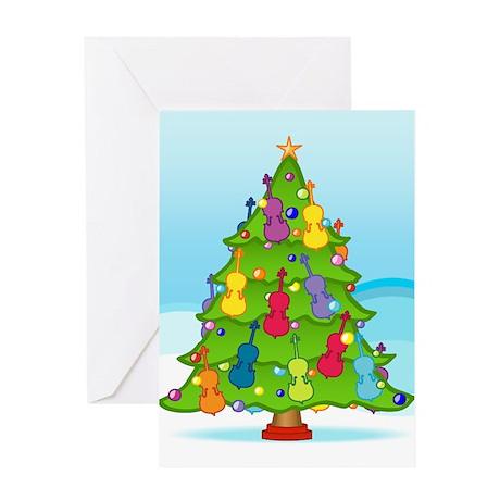 Cello Christmas Greeting Card