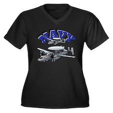 Hawkeye Women's Plus Size V-Neck Dark T-Shirt