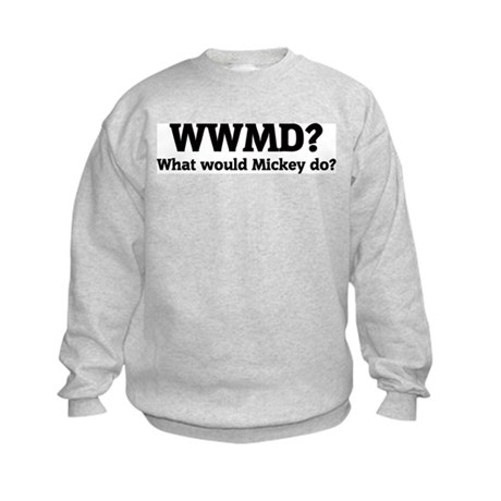 What would Mickey do? Kids Sweatshirt