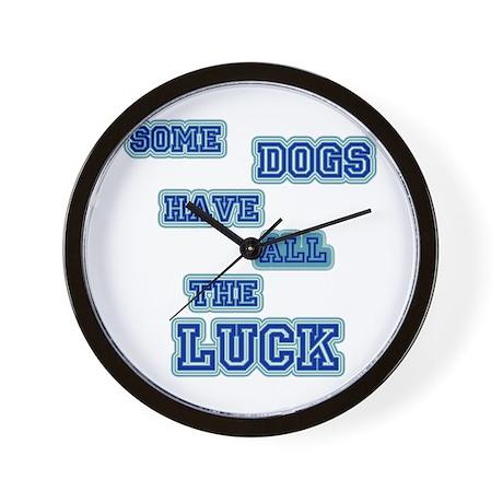 LD Dog Luck! Wall Clock