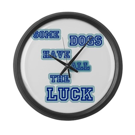 LD Dog Luck! Large Wall Clock