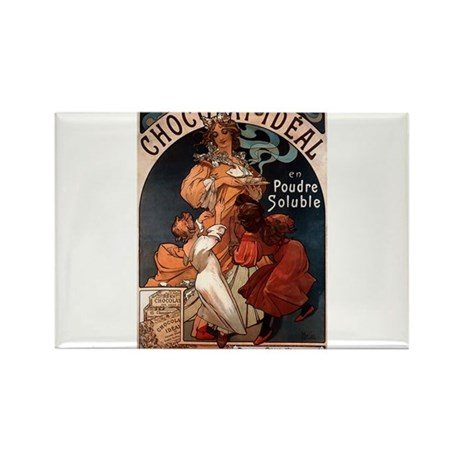 Chocolat Ideal by Mucha Rectangle Magnet (100 pack