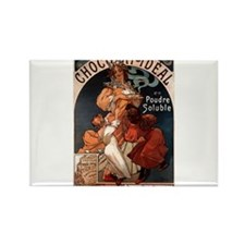 Chocolat Ideal by Mucha Rectangle Magnet