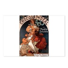 Chocolat Ideal by Mucha Postcards (Package of 8)