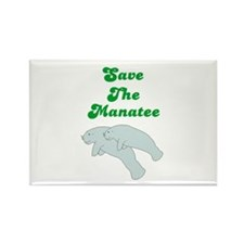 SAVE THE MANATEE Rectangle Magnet