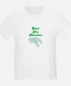 SAVE THE MANATEE Kids T-Shirt