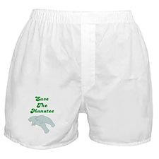 SAVE THE MANATEE Boxer Shorts
