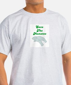 SAVE THE MANATEE Ash Grey T-Shirt