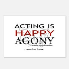 Acting is Happy Agony Postcards (Package of 8)
