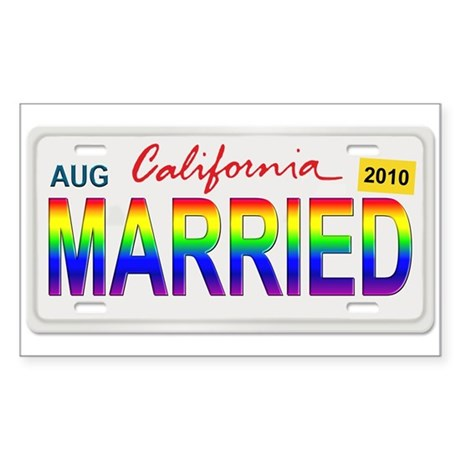 MARRIED Sticker (Rectangle)