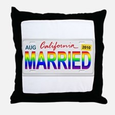 MARRIED Throw Pillow