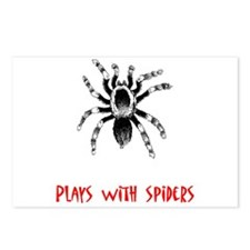 Plays With Spiders Postcards (Package of 8)