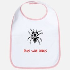 Plays With Spiders Bib