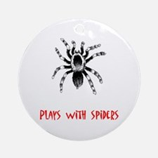 Plays With Spiders Ornament (Round)
