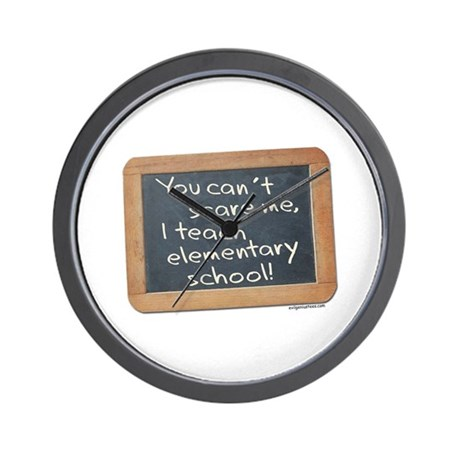 Can't scare me elementary Wall Clock
