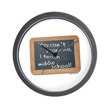 Can't scare me middle school Wall Clock