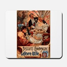 Biscuits Champagne Lefevre Utile by Mucha Mousepad