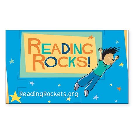 Reading Rocks! Rectangle Sticker