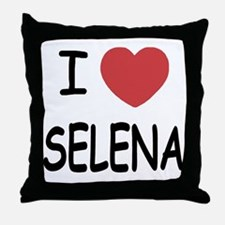 I heart selena Throw Pillow
