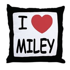 I heart miley Throw Pillow