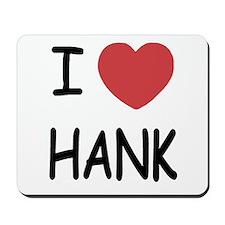 I heart hank Mousepad