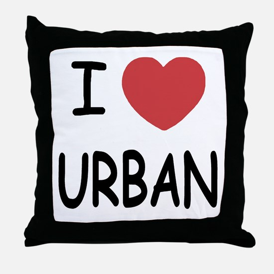 I heart urban Throw Pillow