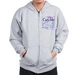 Crochet Purple Zip Hoodie