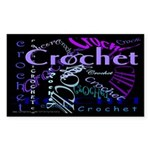 Crochet Purple Sticker (Rectangle 50 pk)