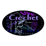 Crochet Purple Sticker (Oval 10 pk)
